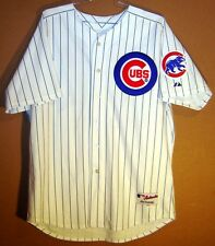 CHICAGO CUBS ALFONSO SORIANO White PINSTRIPE #12 Size 52 Baseball MLB JERSEY