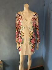 Glamour Babe Stunning Floral Bodycon Dress.Tagged UK14,but runs small! P/C