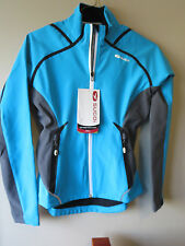 Womens New Sugoi Runnig RSR Power Shield Jacket Size Small Color Cyan