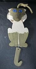 OOAK Handmade Original Pottery Wind Chime Kitty CAT Bell Hanger Hand Painted