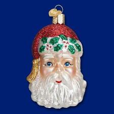 SINTERKLAAS HEAD SANTA CLAUS W/ HOLLY OLD WORLD CHRISTMAS ORNAMENT NWT 40272