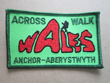 Across Wales Walk Walking Hiking Cloth Patch Badge (L3K)