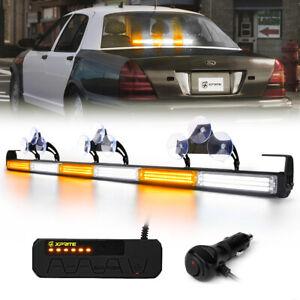 """Xprite 35"""" LED Strobe Light Bar Amber White Traffic Advisor Emergency Warning"""