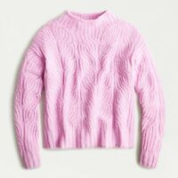 NWT J.Crew Pointelle Cable Sweater Classic Pink Size XS