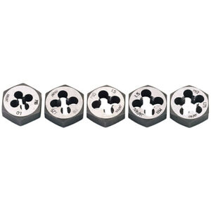 Draper 5 Piece Metric Hexagon Die Nut Set M6 M8 M10 M11 M12 79198