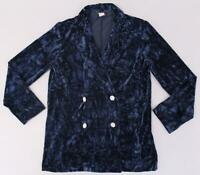 Reclaimed Vintage Women's Inspired Tux Jacket In Velvet SD8 Navy Size US: 6 NWT