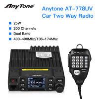 AT-778UV VHF/UHT 25W 200 Channels Mini Vehicle Mobile Radio CB 2 Way Transceiver