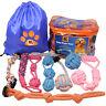 Dog Toys - 8 Large Dog Rope Toys for Medium and Large Dogs- BK