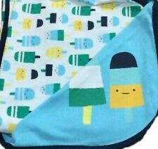 NWT Gymboree Summer Popsicle Blue Reversible Blanket Year NEW