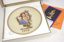 M.J.Hummel 6th Annual Plate 1976 in bas relief W. Goebel Perfect in Original Box