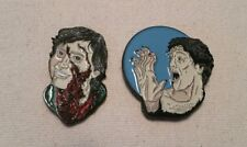 An American Werewolf In London Jack and David Enamel Lapel Pin Set Horror Movie