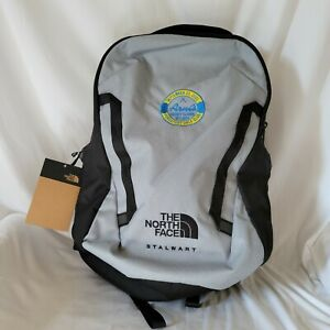 The North Face Stalwart Flexvent Backpack Laptop Book Bag Gray Black NWT