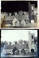 Glass Photograph Negative Antique 1900s St Peters Church South Weald Essex