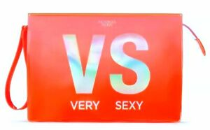 Victoria's Secret Very Sexy Now VS BIKINI COSMETIC Wristlet CASE Orange New $26