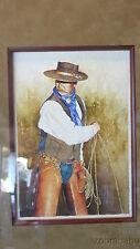 """Mark Kohler Original Watercolor Painting """"Horse Loop"""" Texas Western Artist Frame"""