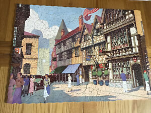 Vintage SUPER CUT 500p wooden jigsaw With WHIMSEY BITS- HARVARD HOUSE Stratford