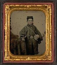 Photo Civil War Era Young Drummer Boy In Union Uniform With Cup
