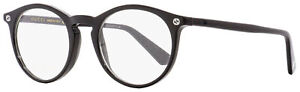 Gucci Oval Eyeglasses GG0121O 001 Black 49mm 0121