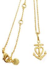 Glaube Liebe Hoffnung Halskette vergoldet matt gesandelt + Goldbox IChc1