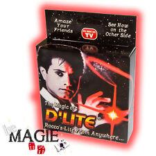 2 x D'lite ROUGE Junior (1 Paire) - Faux pouce Lumineux - Tour de Magie