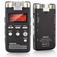 EVISTR PCM Voice Activated Recorder with Recording Monitor, 8GB Noise Reduction