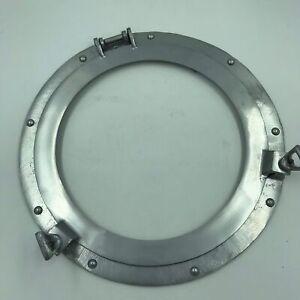 "Nautical Silver 15"" Porthole Window Round No Glass Nautical Wall Decor-Silver"