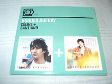 "COFFRET DIGIPACK 2 CD ""CELINE / SANTIANO"" Hugues AUFRAY"