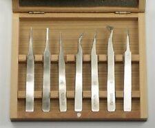 Tweezers Set of 7 Watch Repair Tool Jewellers Jewellery Watchmaker Clock Tweezer