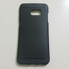 BACK COVER FOR SAMSUNG GALAXY S7 DOTTED RUBBER SILICON CASE COVER BODYBLACK