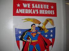 2001 WE SALUTE AMERICA'S HEROES POSTER VF/NM