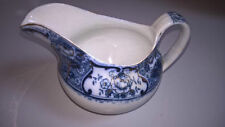 Unboxed Flow Blue Transfer Ware Pottery Gravy Boats