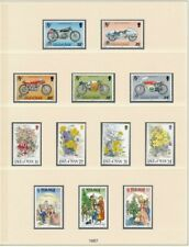 D208842 Isle of Man 1987 Nice selection of MNH stamps