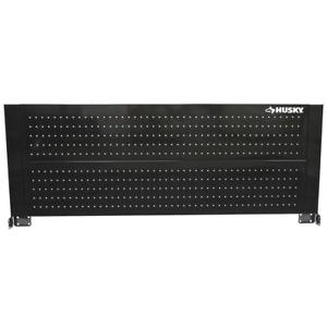 52 in. Pegboard Back Wall for Tool Cabinet, Black