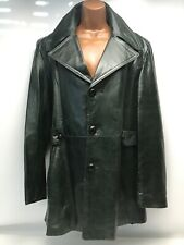 Vintage 90s Town Craft Soft Kid Leather Blazer Jacket Deep Green Size 40 Medium