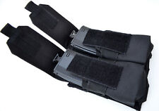 Double Stack Magazine Pouch Molle Ammo Clip Belt Carrier - BLACK