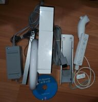Nintendo RVL-001 Wii Console - White - With Wiimote, Nunchuck, Wheel, Wii Sports