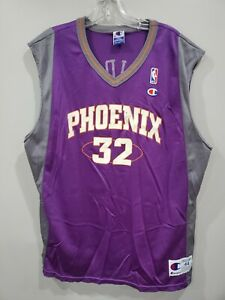 Rare Vintage Champion Phoenix Suns Jason Kidd 32 Jersey Mens 44 L Purple