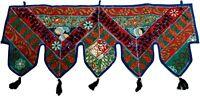 Indian Home Decor Beaded Embroidery Bandhanwar ToraWindow Valence Door Hanging