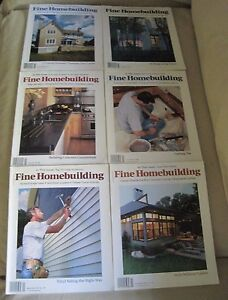 Fine Homebuilding Back Issues Magazines Lot of 6 Entire Year 2002 DIY Remodeling