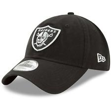 Oakland Raiders New Era NFL Team 9TWENTY Curved Hat - Black