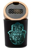 V-SYNDICATE Hamsa Smart Stash Jar Large Turquoise for Herbs Tobacco Air Tight