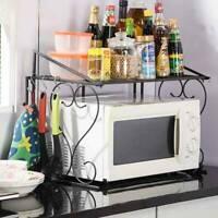 Support à étagère de rangement pour d'étagère de four à micro-ondes 2 Tiers