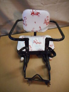 Vintage Baby Infant Bicycle Seat, Black Frame, Padded Seat, Clamps On, Schwinn