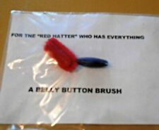 """New listing Red Hat Society """"Red Hatter"""" Lady Belly Button Brush Gag Gift"""
