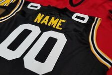 #00 Pittsburgh Football  Jersey Your Name&Number -Sewn sleeveless.