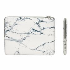 "11-Inch White Marble Zipper Sleeve Bag for 11"" Macbook Air/ Ultrabook/Chromebook"