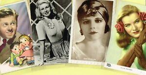 Vintage Original ☆ FILM STAR ☆ Postcards from around the World - List R