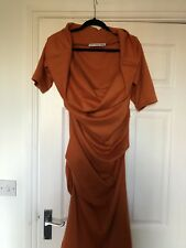 Spice Coloured Drape Dress - One Of A Kind!