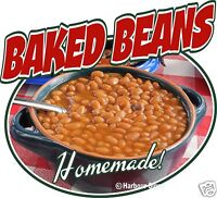 Baked Beans Barbeque BBQ Restaurant Concession Food Truck Sign Decal 14""