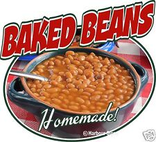 """Baked Beans Barbeque Bbq Restaurant Concession Food Truck Sign Decal 14"""""""